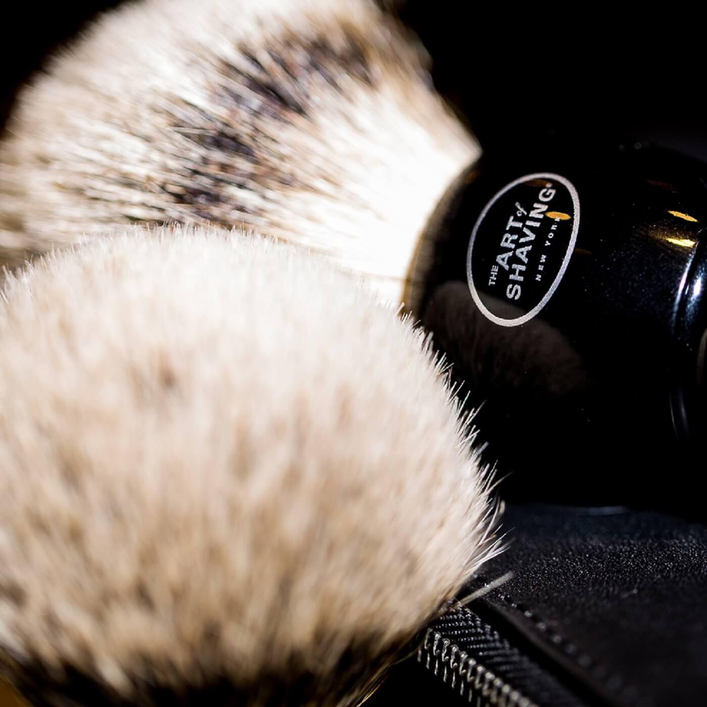 Black fine shaving brush badger shaving brush beard