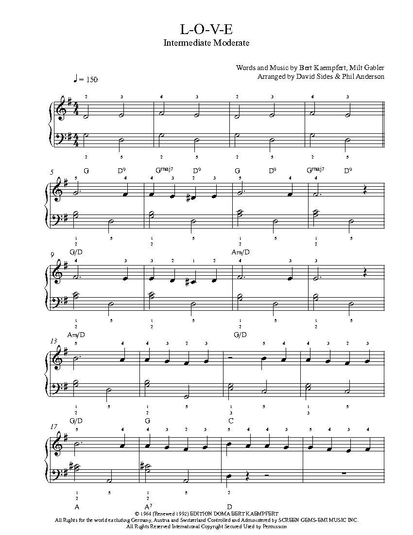 L o v e by natalie cole piano sheet music intermediate level l o v e by natalie cole piano sheet music intermediate level hexwebz Image collections