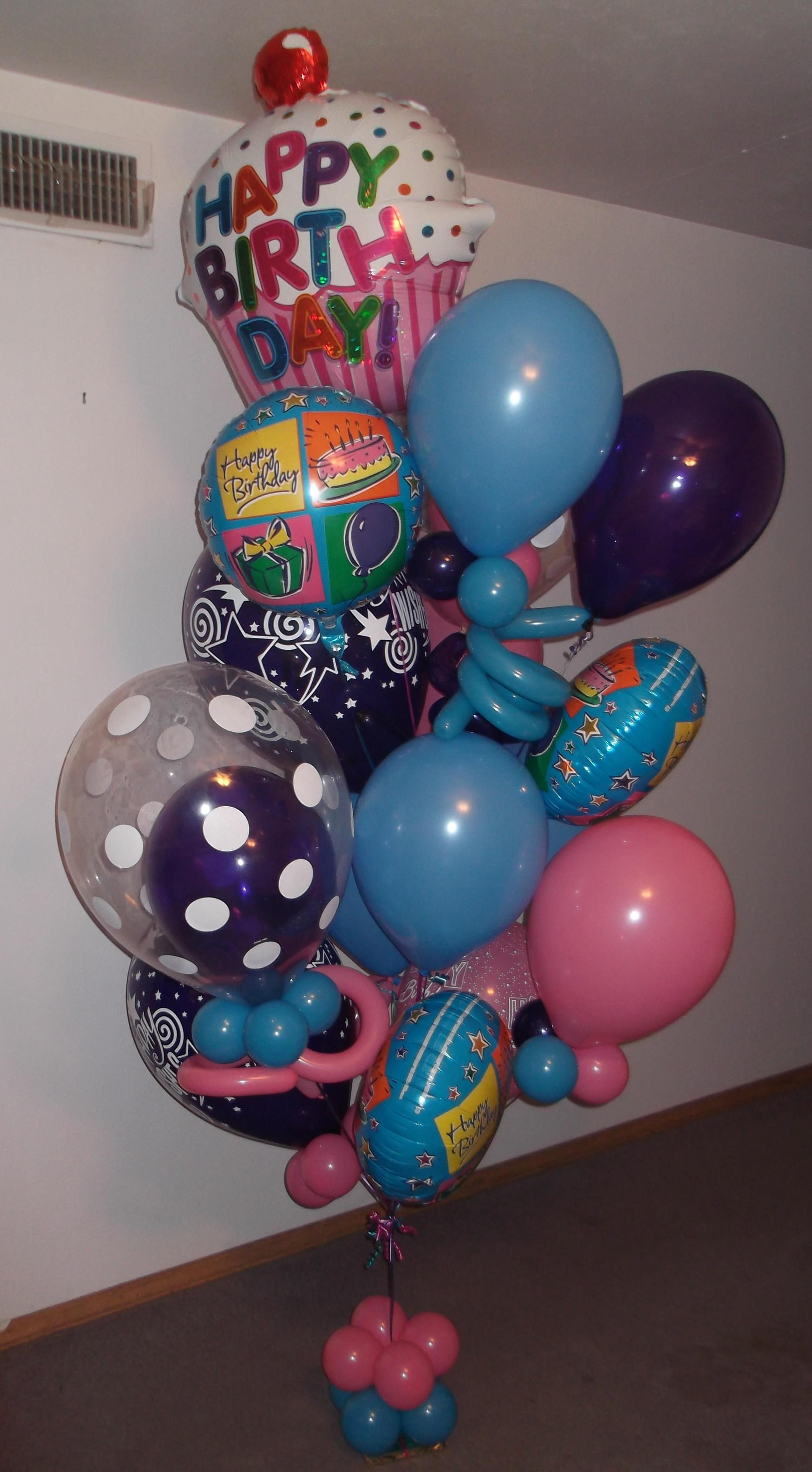 Beautiful large birthday balloon bouquet delivery for Beautiful balloon decorations