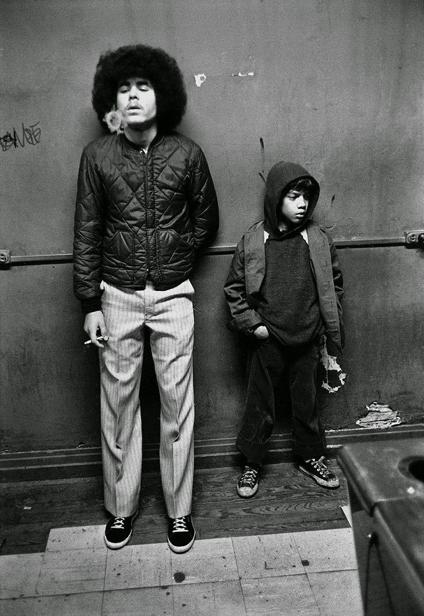 Vintage everyday black and white photos of bronx boys from the 1970s 80s