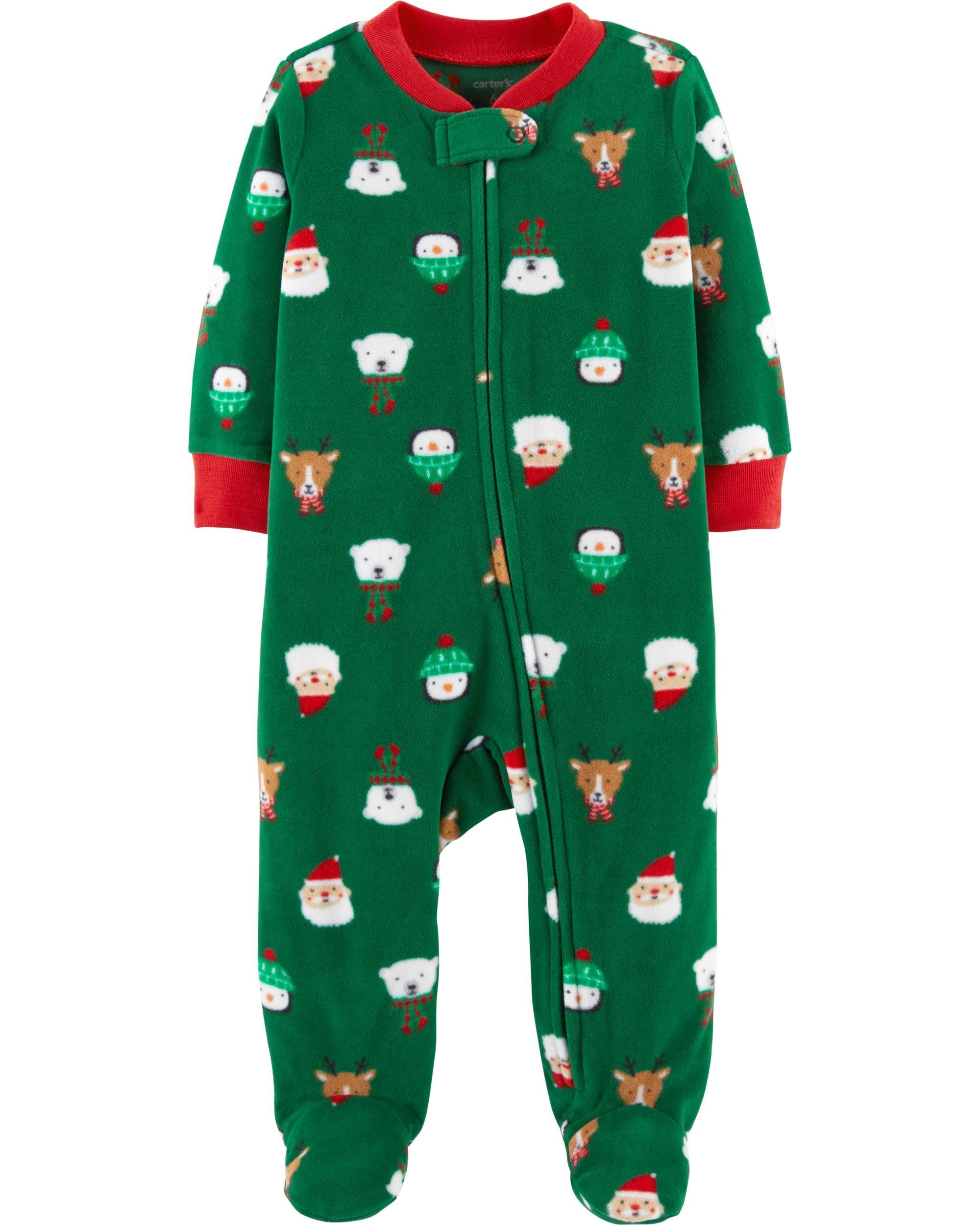 4163f4498 Christmas Zip-Up Fleece Sleep   Play