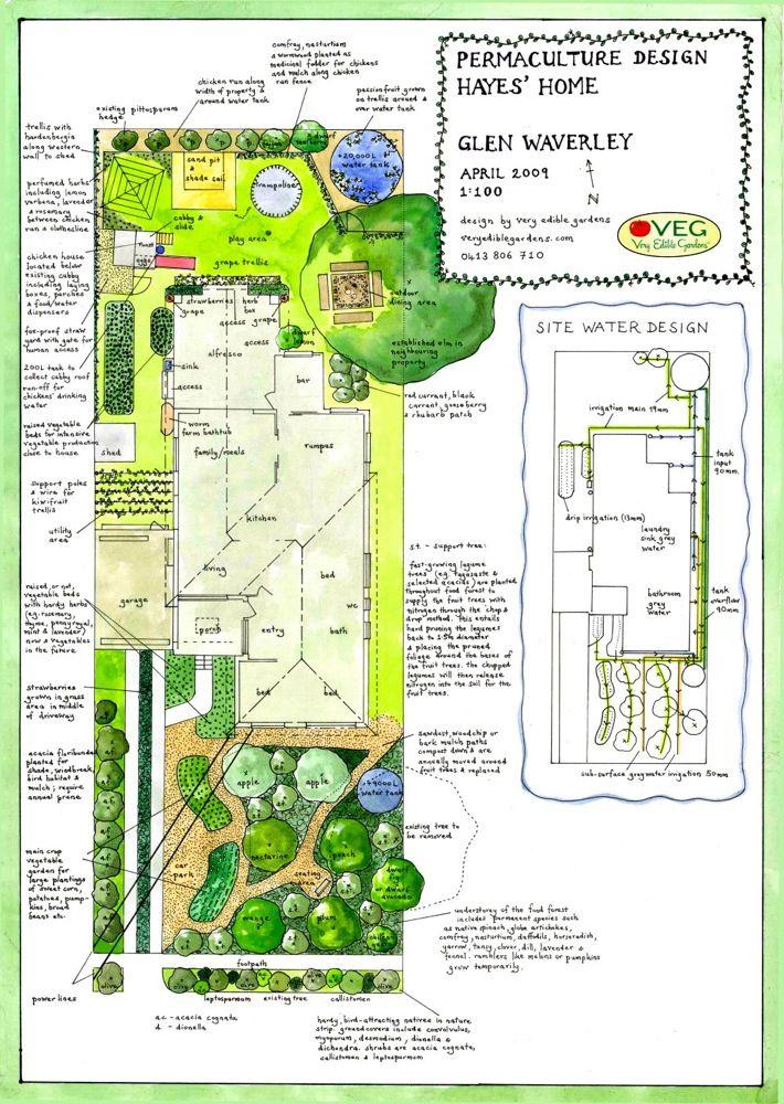 urban site design with separate water design | Garden Design ...