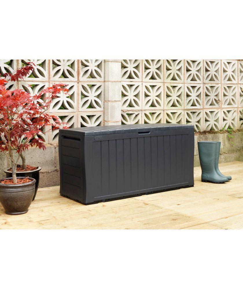 Buy Keter Marvel+ 270L Garden Storage Box - Grey | Garden ...