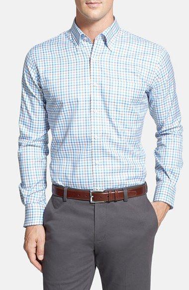 4308c26e Peter Millar 'Nano-Luxe Tattersall' Regular Fit Sport Shirt. #petermillar  #cloth #