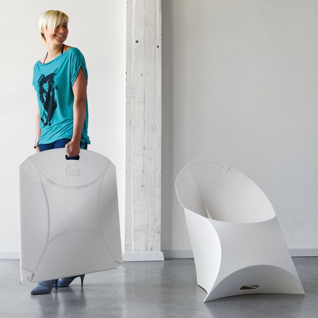 Flux Chair Pure White Love Blueuntree For The Home Pinterest