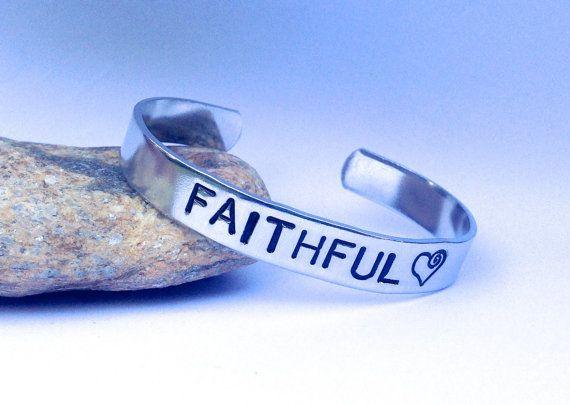 #Faithful Cuff #Bracelet by BlissfulBirdDesigns on Etsy, $16.95 #faith