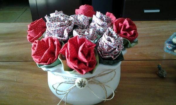 Flores tecido