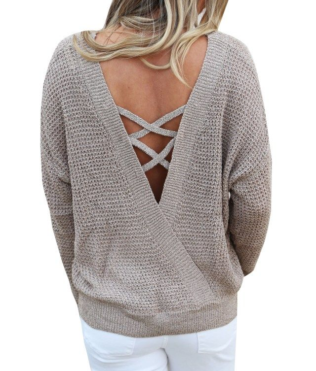 Pulover crem modern de dama model tricotat fashion si tineresc 261e5b168293