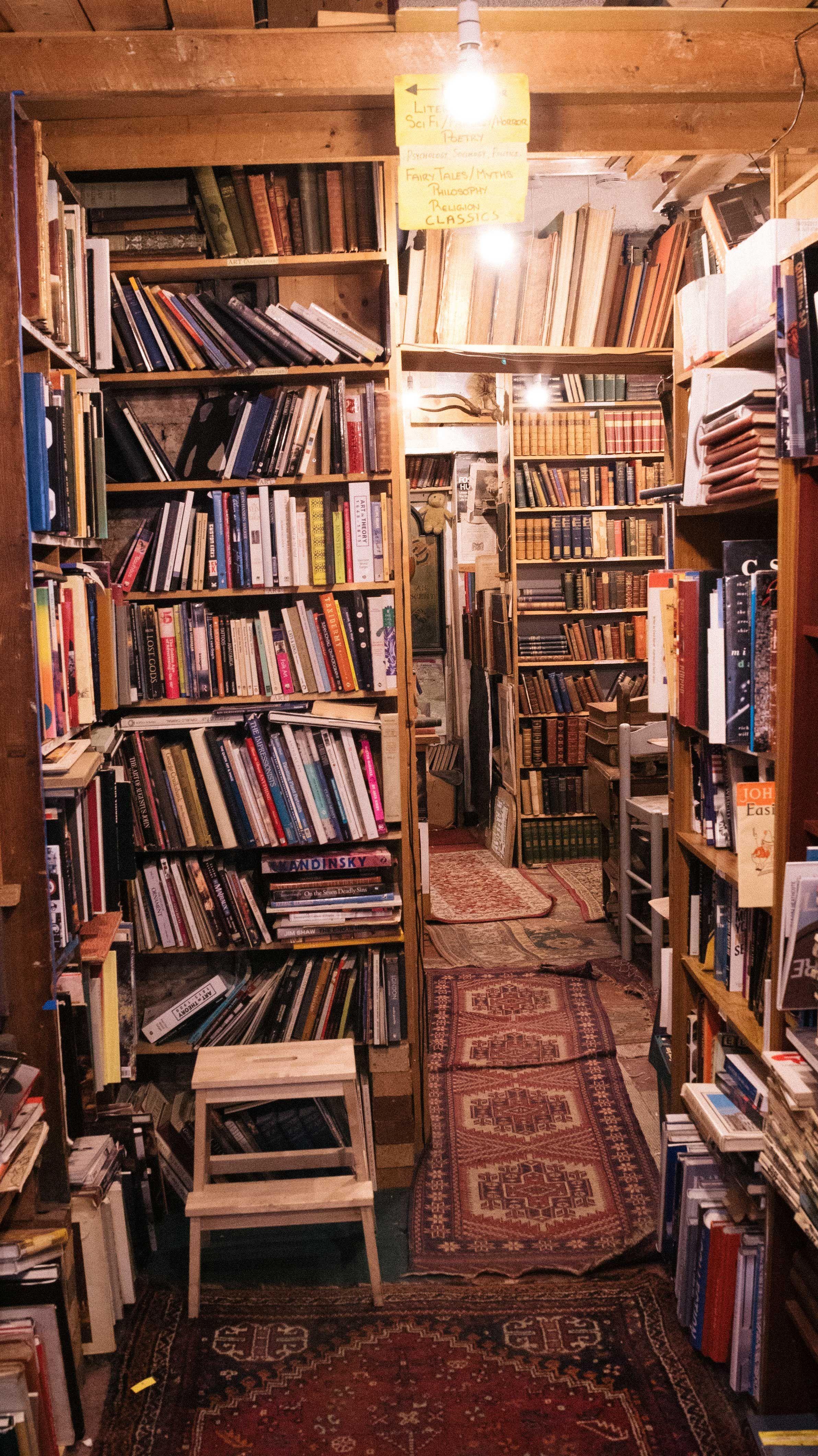 Second Hand Bookshop Edinburgh Aesthetic Interior Ideas Second