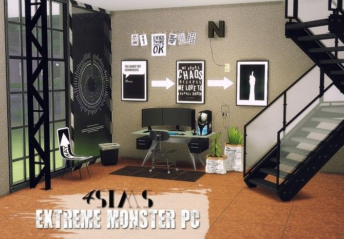 3t4 Conversion of 4sims Extreme Monster PC at Daer0n – Sims 4 Designs