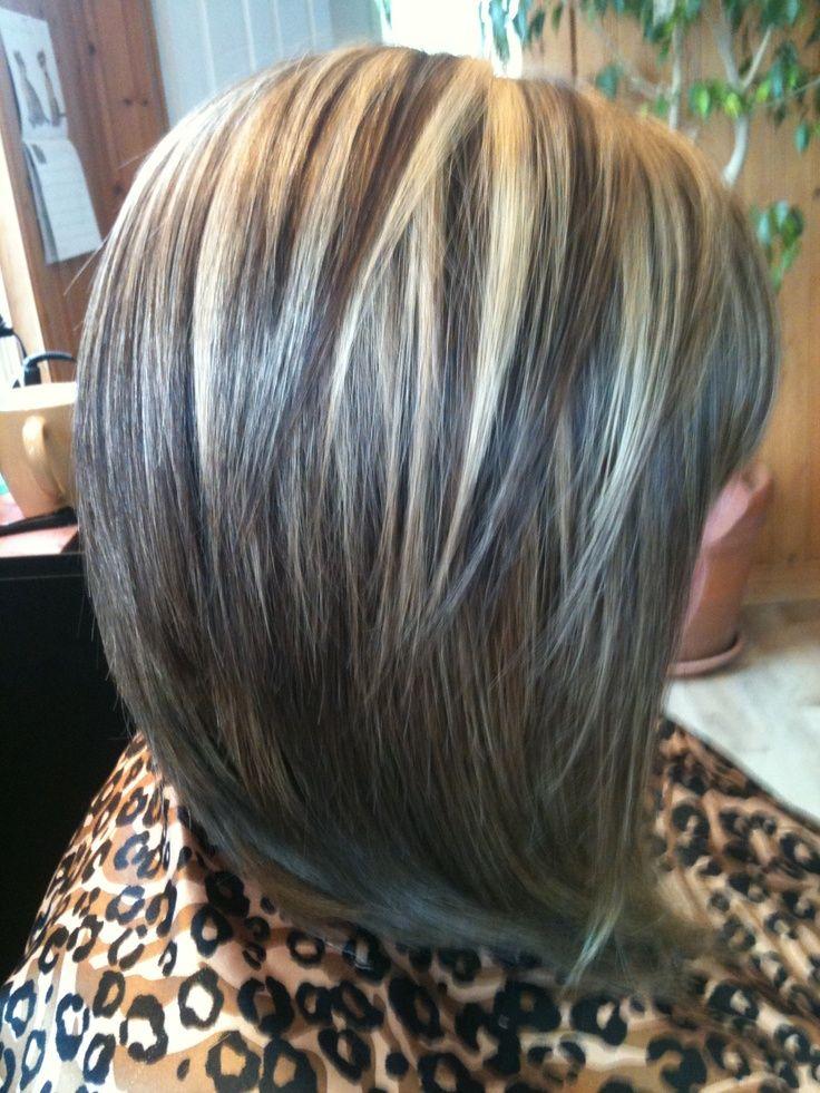 Highlights, Hair Color Ideas, Hair Style, Bobs Highlights Lowlights ...