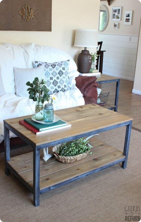Wood And Metal Frame Coffee Table Knockoffdecor Com Living Room Decor On A Budget Furniture Diy Living Room Decor