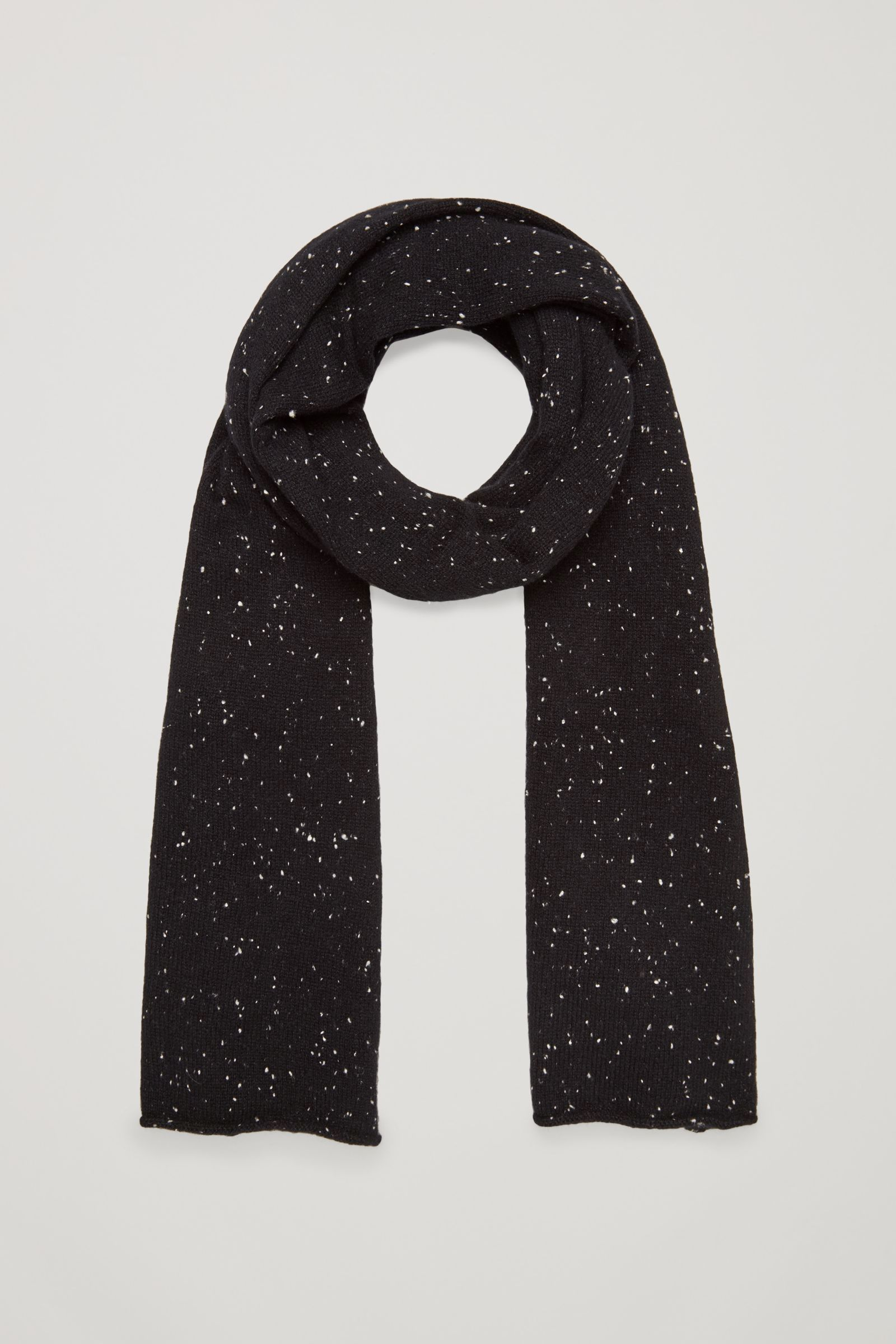 COS image 1 of Speckled cashmere scarf in Black   This, I want ... c1422157d45