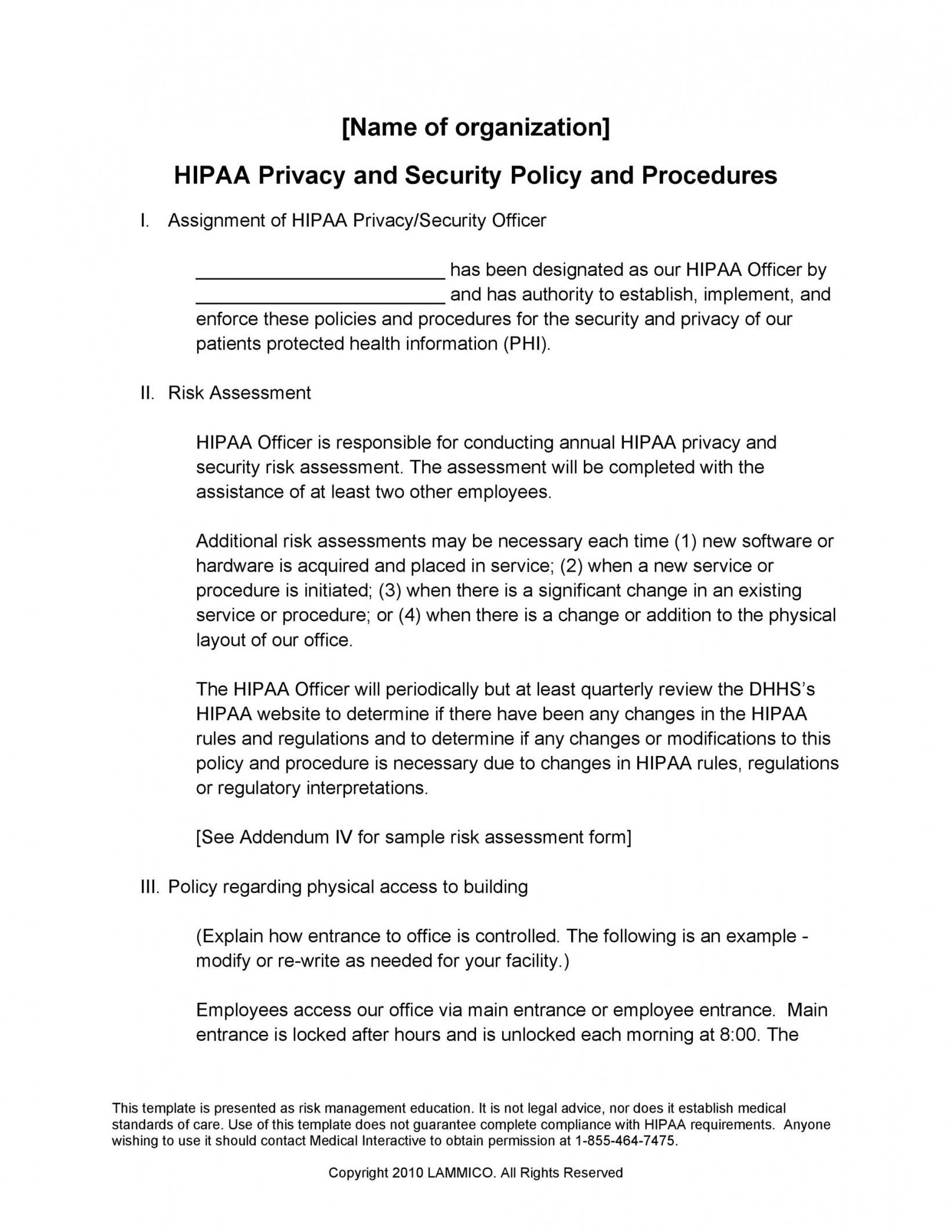 Explore Our Example Of Physical Security Policy Template For Free Policy Template Corporate Security Protected Health Information