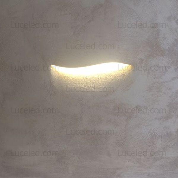 Tipologia segnapasso da incasso a parete materiale gesso - Lampade da muro design ...