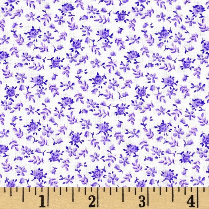 108 Quilt Backing Floral Purple From Fabricdotcom This Extra Wide