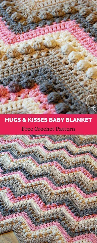 Hugs Kisses Baby Blanket Free Crochet Pattern Pretty Crochet