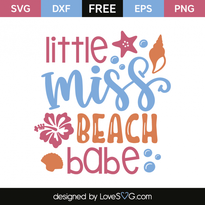 Little miss beach babe | Circut Projects, Info & Cuttlebug