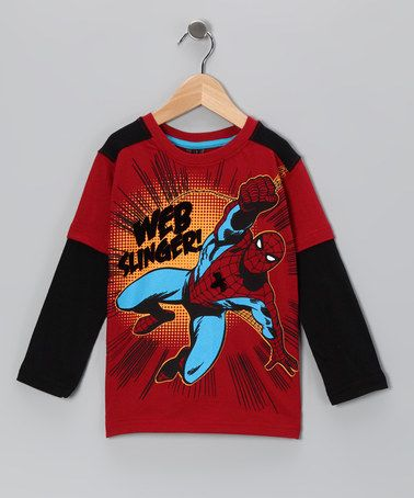 Take a look at this Red Spider-Man Layered Tee - Boys by Marvel on #zulily today!