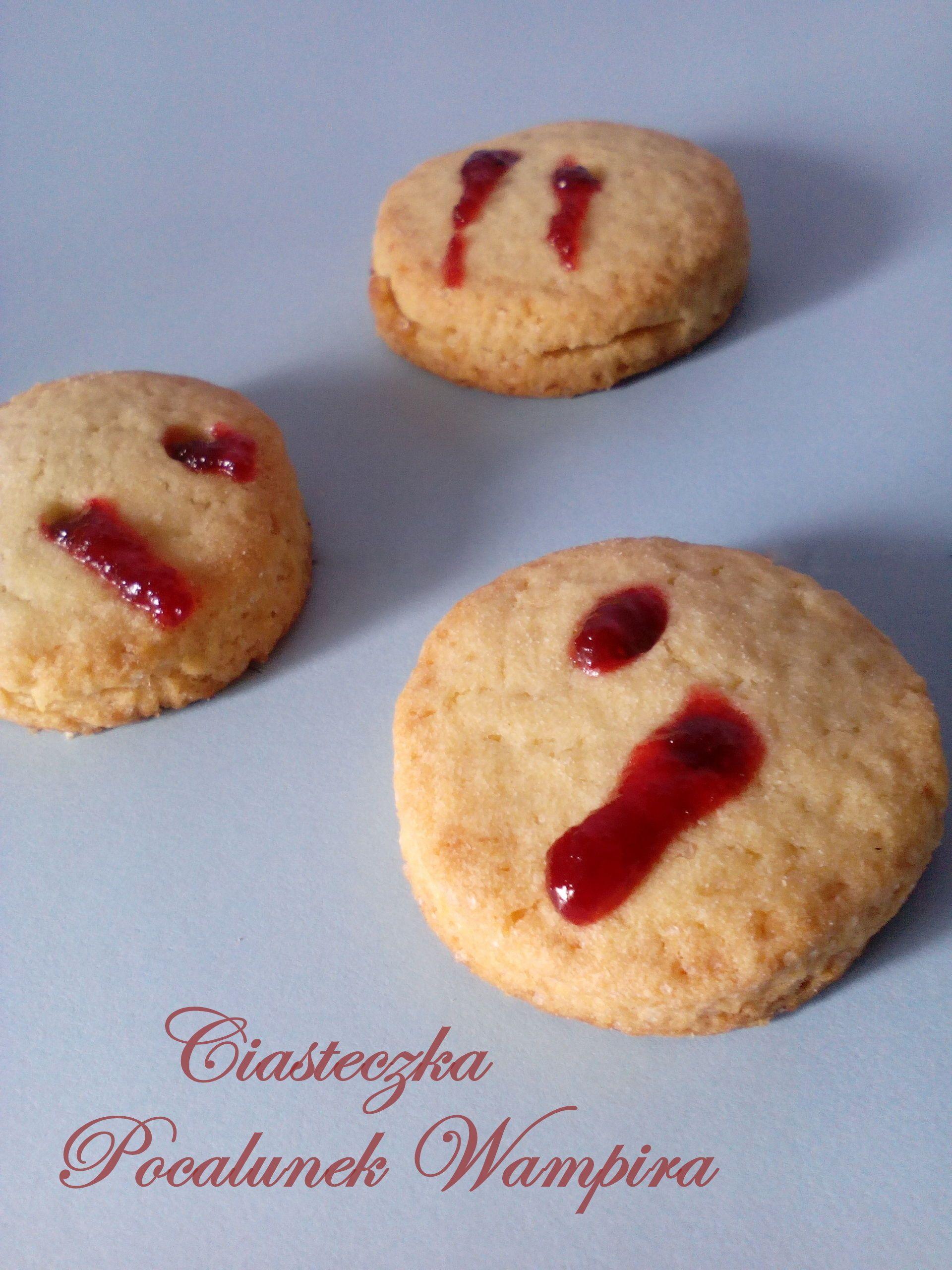 Ciasteczka Pocałunek Wampira PRZEPIS Smakołyki