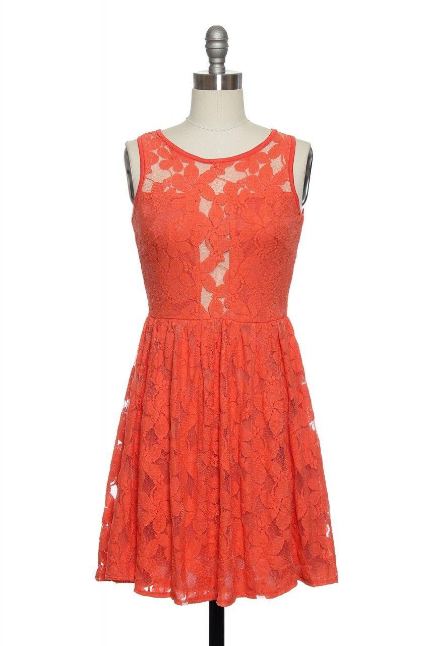 Like a fine wine dress in orange laceaffair the dress isnut
