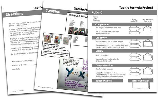 FREE directions and rubric sheet- This project is a quick