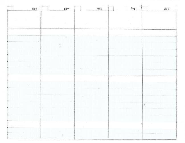 work week calendar template