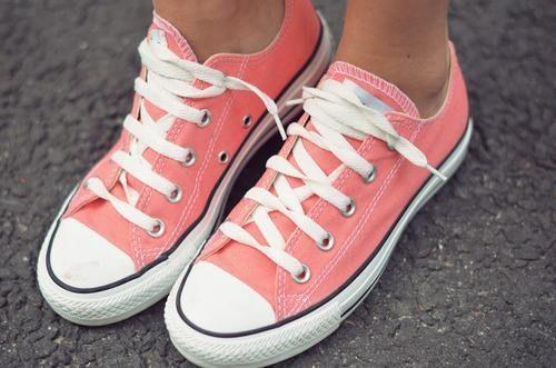Coral Converses | Cute shoes, Converse, Shoes
