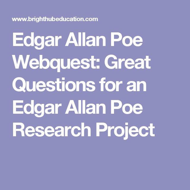 edgar allan poe research