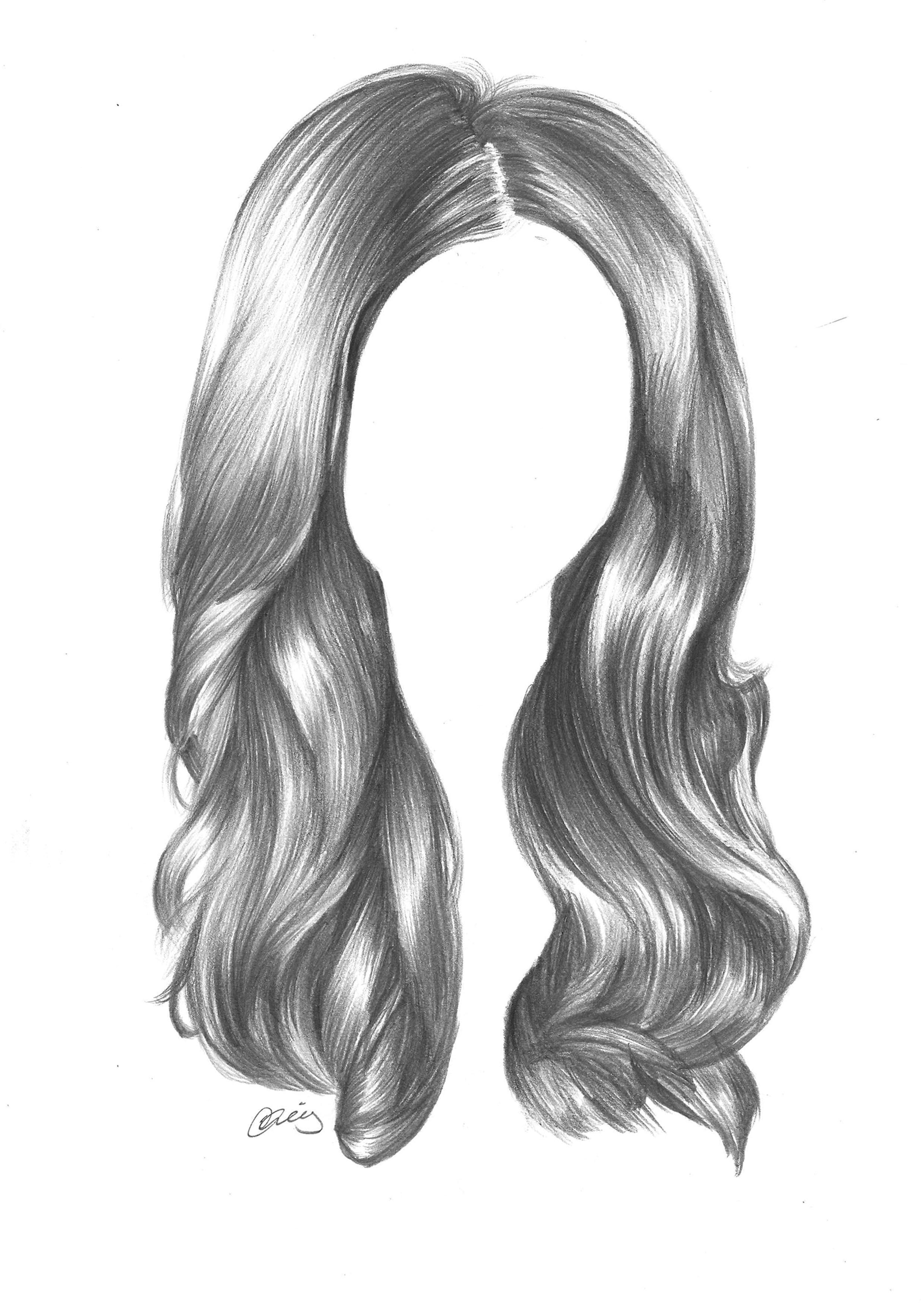 Using standard graphite pencils to draw hair draw hair sketch