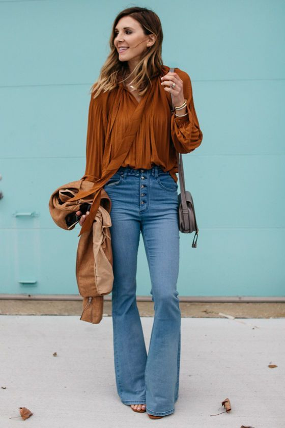 Photo of Eines Tages Lovin 'Dylan Blue High-waisted Flare Jeans