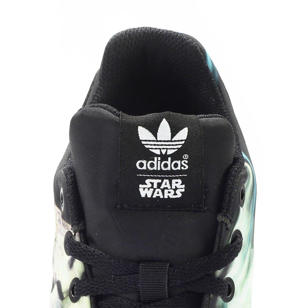 Adidas Originals x Star Wars ZX Flux W Torsion Millenium Falcon (schwarz/weiß/multi) - The Good Will Out   Sneakershop Köln