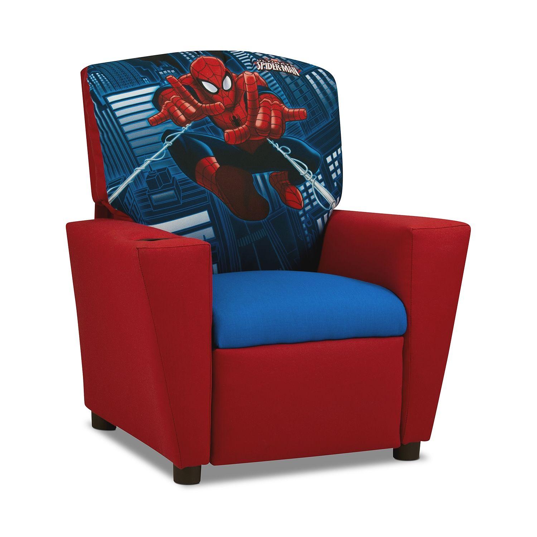 Living Room Furniture Spider Man Child S Recliner Kids