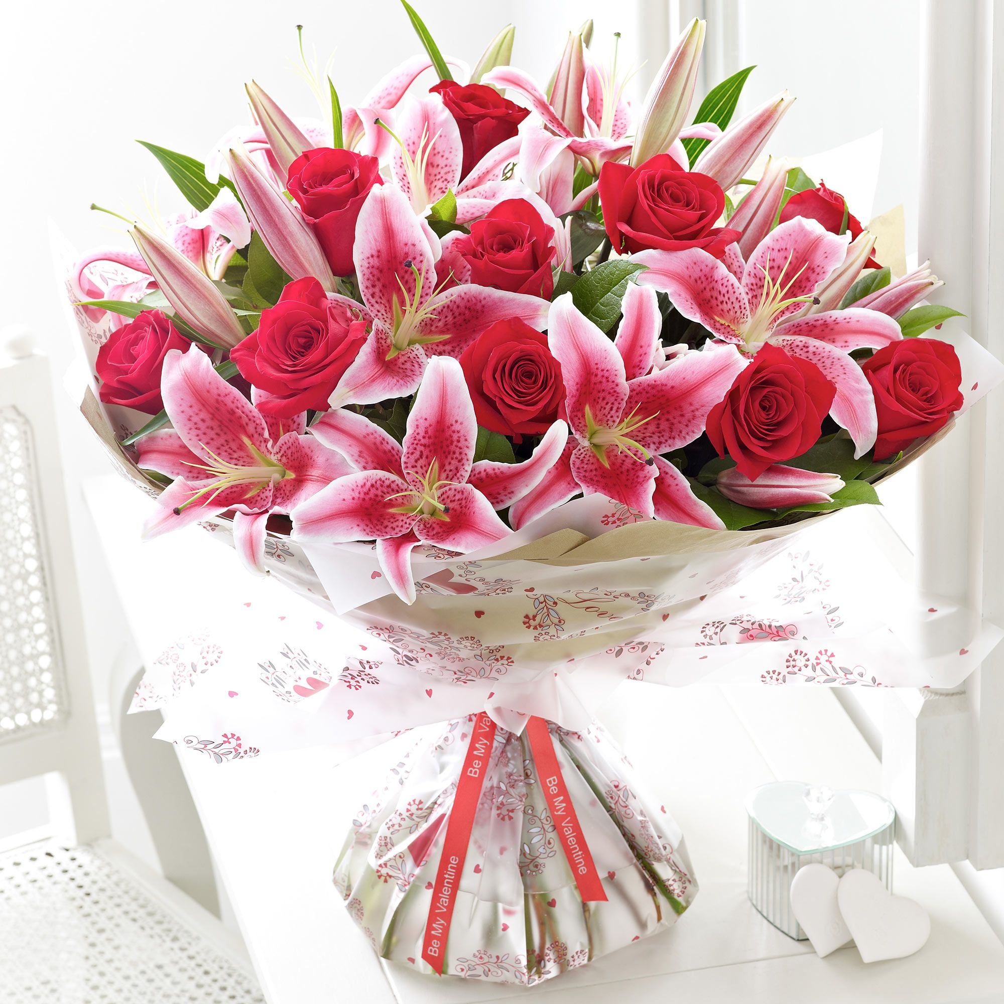Stunning rose and lily bouquet Rose and lily bouquet