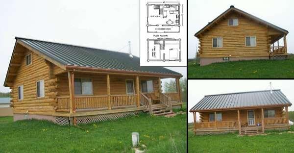 Log homes, log cabins, chalets and log home builders  DIY