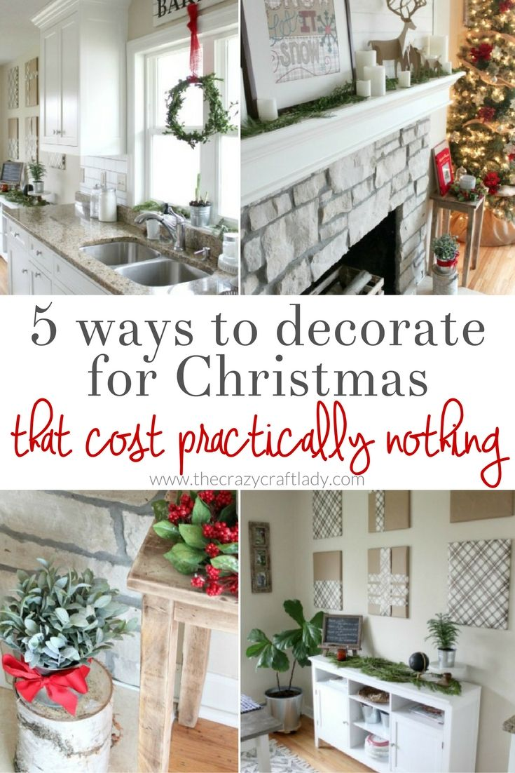 Inexpensive Christmas Decor: Zero-Dollar Ideas and Budget-Friendly ...