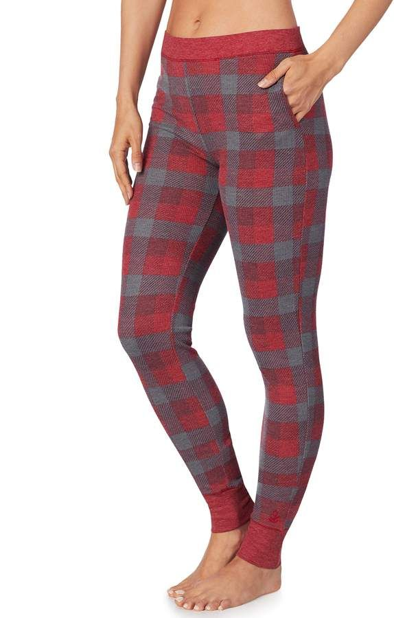 4a0687b92d6b Plus Size Cuddl Duds Stretch Waffle Thermal Leggings | love ...