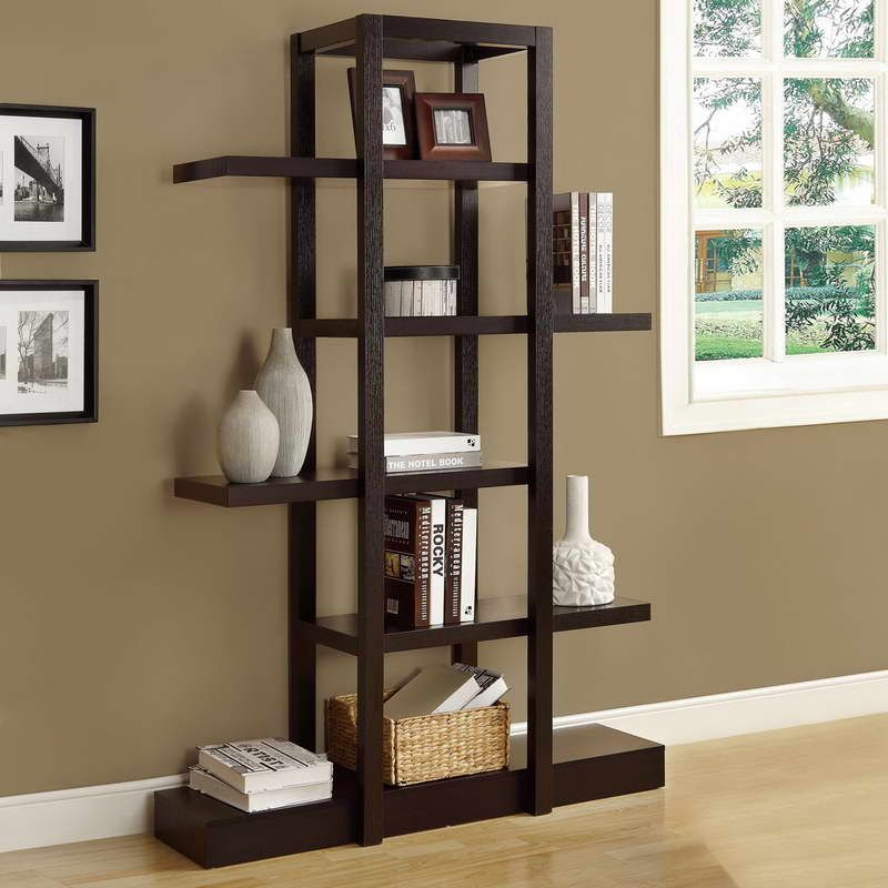 Decorative Shelving Units With Window Glass Home Open Display
