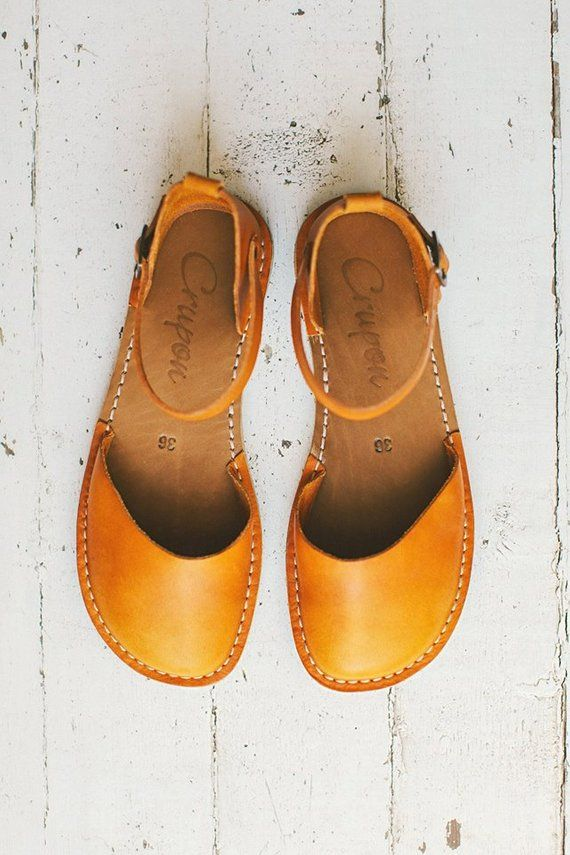 Sandals Leather Sandals Flat Sandals Sustainable S