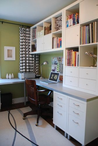Google Image Result For Http St Houzz Com Simgs 78916a770d536565 15 0268 Modern Home Office Jpg Home Office Design Ikea Home Office Ikea Home