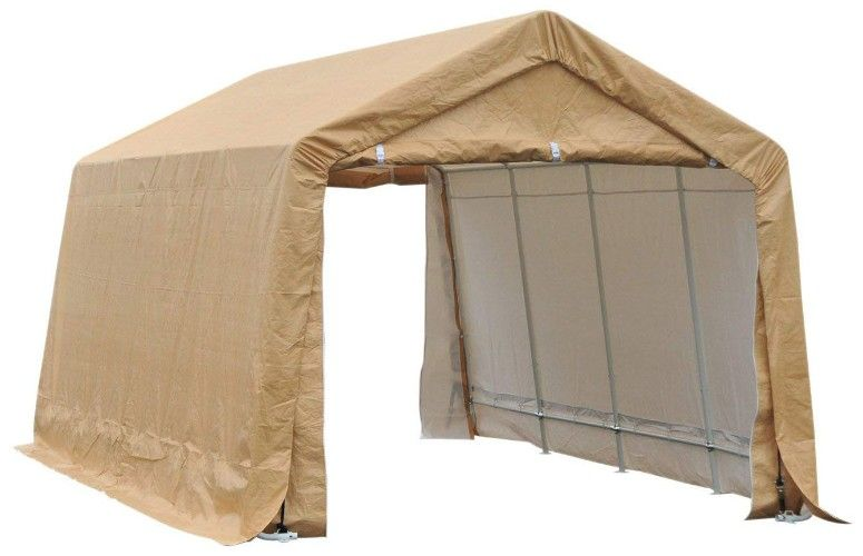 Outsunny 17 X 10 5 Heavy Duty Enclosed Vehicle Shelter Carport Portable Garage Car Canopy Portable