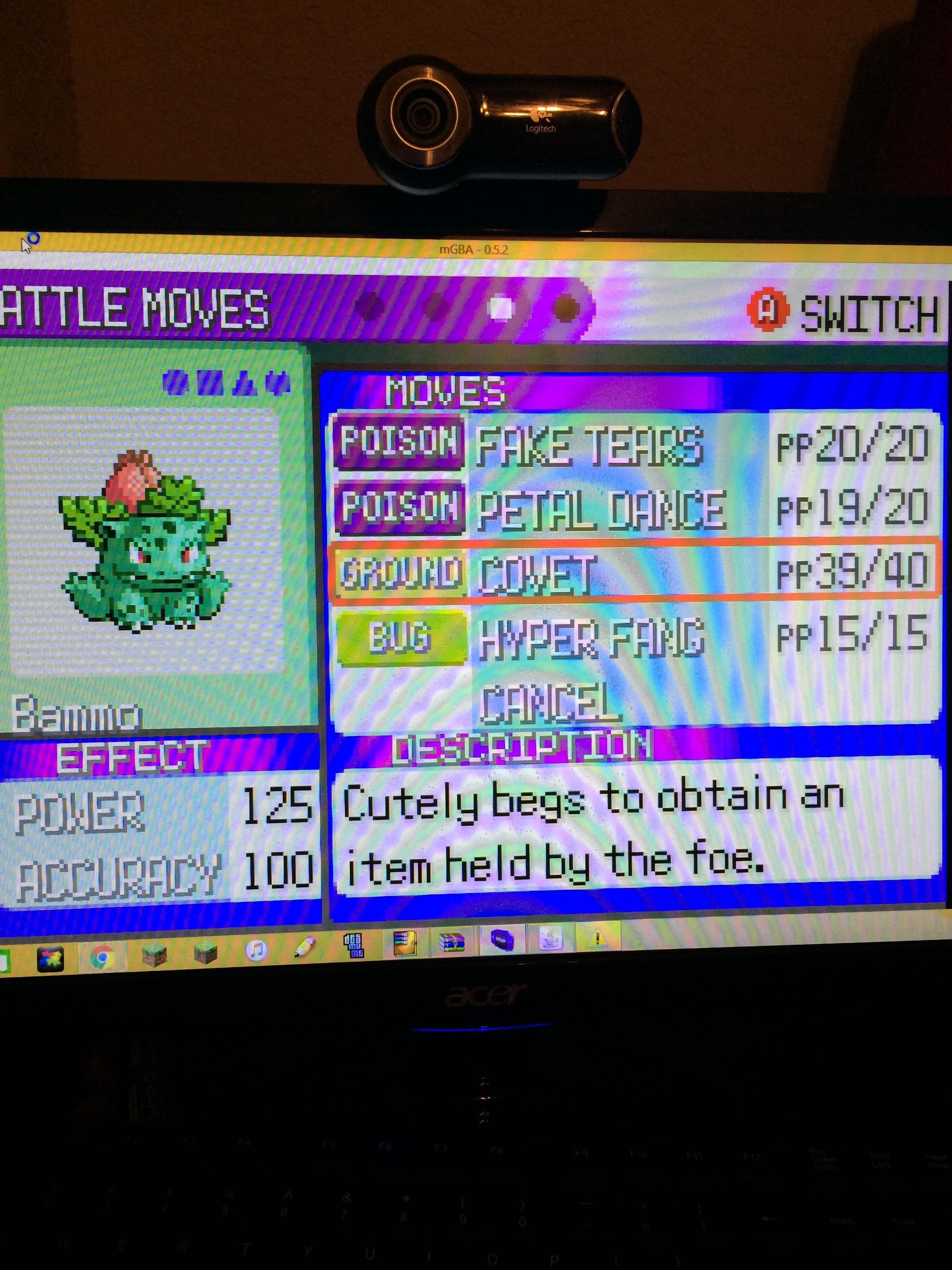 Covet pokemon emerald