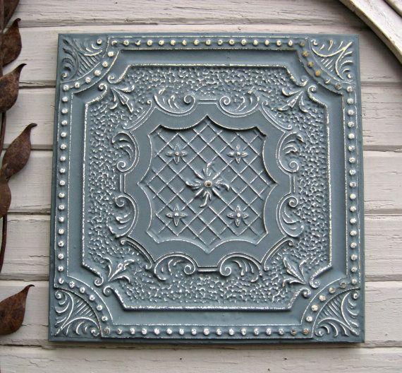 Vintage Ceiling Tile. 2\'x2\' Antique architectural salvage. Circa ...
