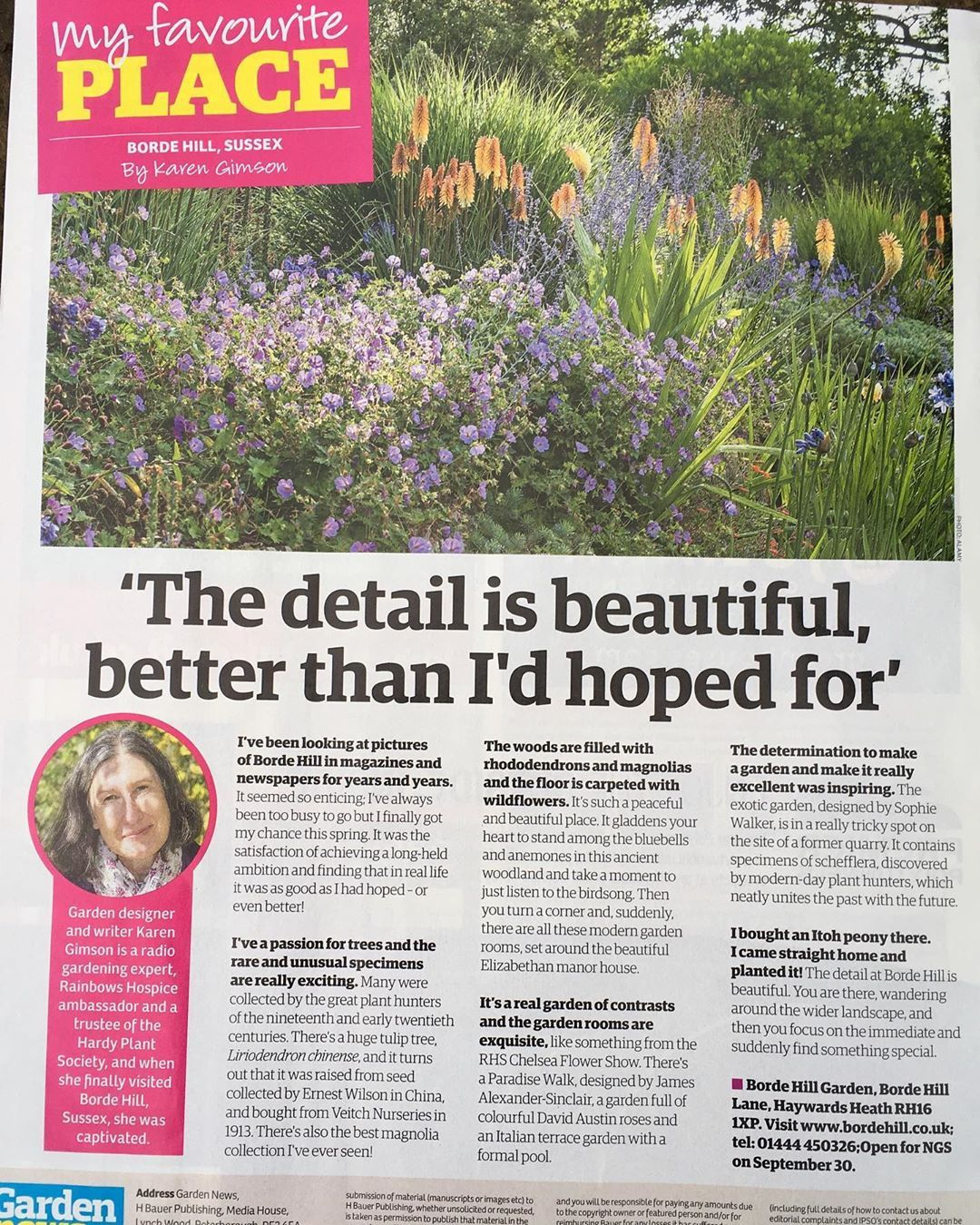 Lovely To See My Favourite Place Bordehillgarden Featured In Gardennewsmagazine Happy To Be Asked To Beautiful Gardens Garden Inspiration Favorite Places