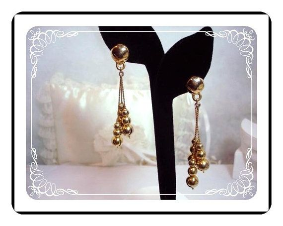 Shoulder Duster Clip-On Earrings - Classical Dangliing Bead  -  E211a-04081200