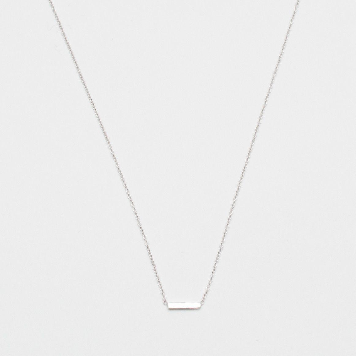 Adina Reyter Bar Necklace - Silver