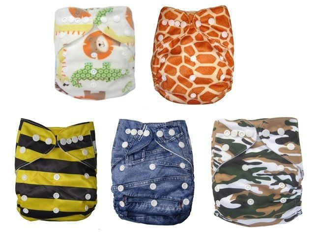 Reusable modern Diapers bulk Cloth Nappies Baby Adjustable nappy