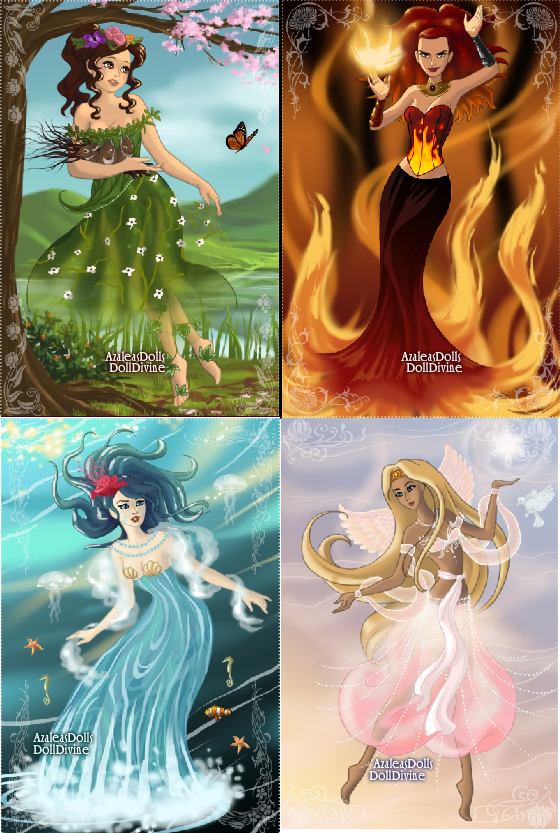 The Four Elements Air Water Earth And Fire Air Goddess