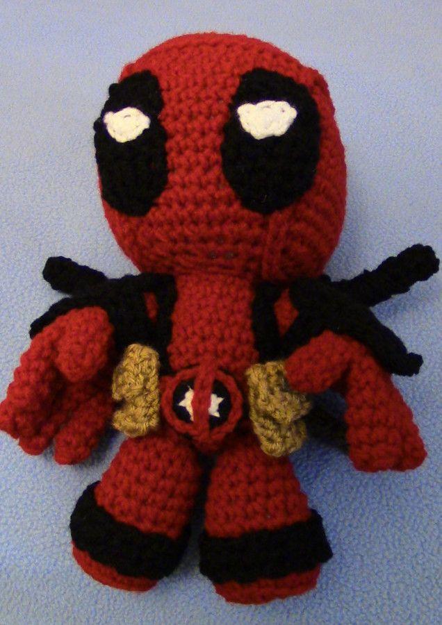 Free crochet deadpool   amigurumi   Pinterest   Häkeln