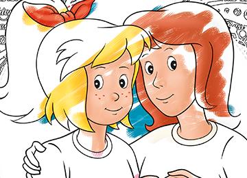 Bibi Und Tina Motive Zum Ausdrucken Und Ausmalen Pferdeparty Kindergeburtstag Bibi Und Tina Und Kinder Geburtstag